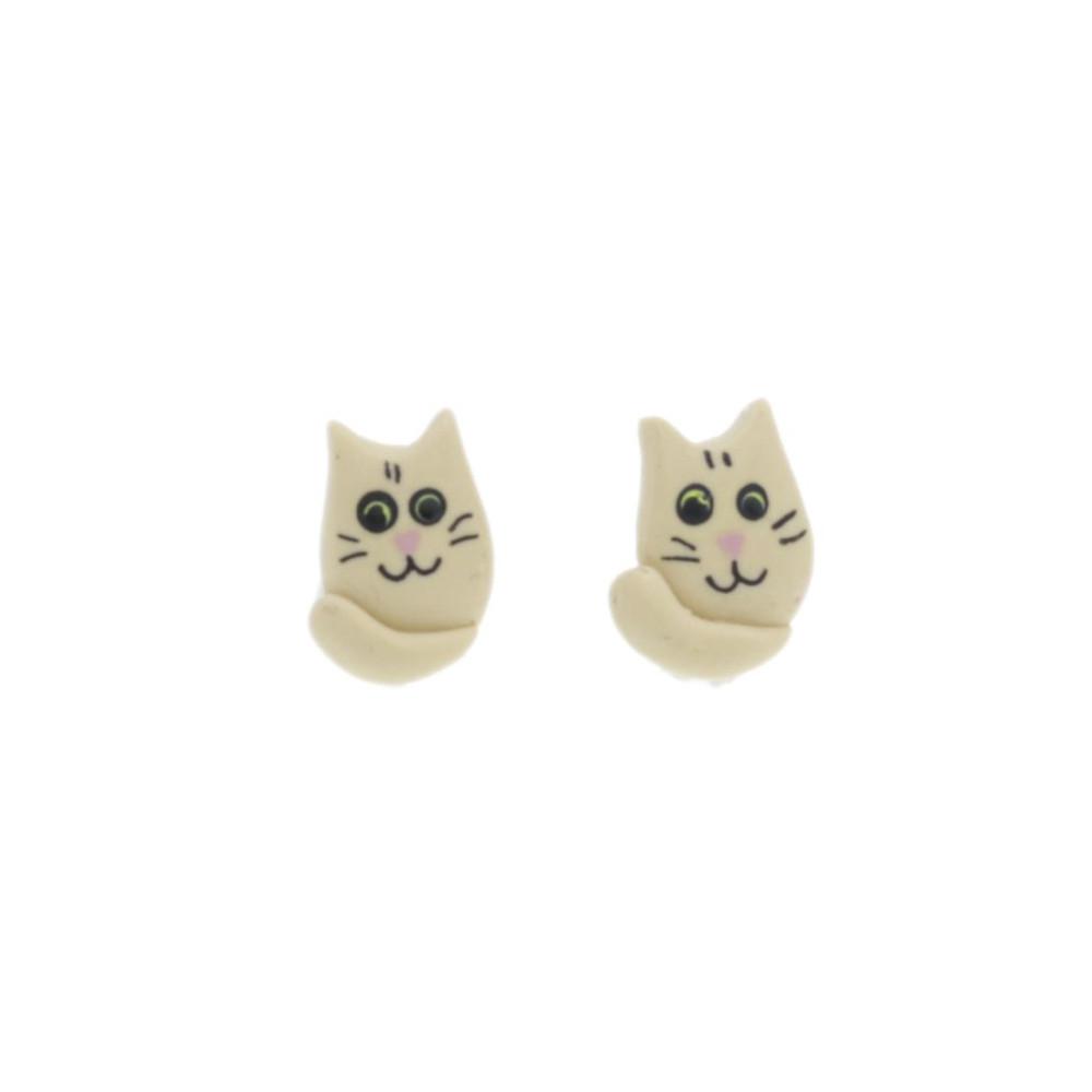 Koty kolczyki wys.1cm kotki kolczyki sztyfty