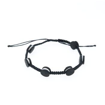 Regulowana bransoletka dziecięca z ciachem - sznurkowa makrama