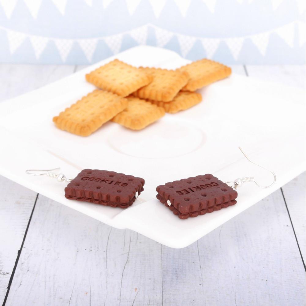 Cookies ciastko - kolczyki wiszące KW6
