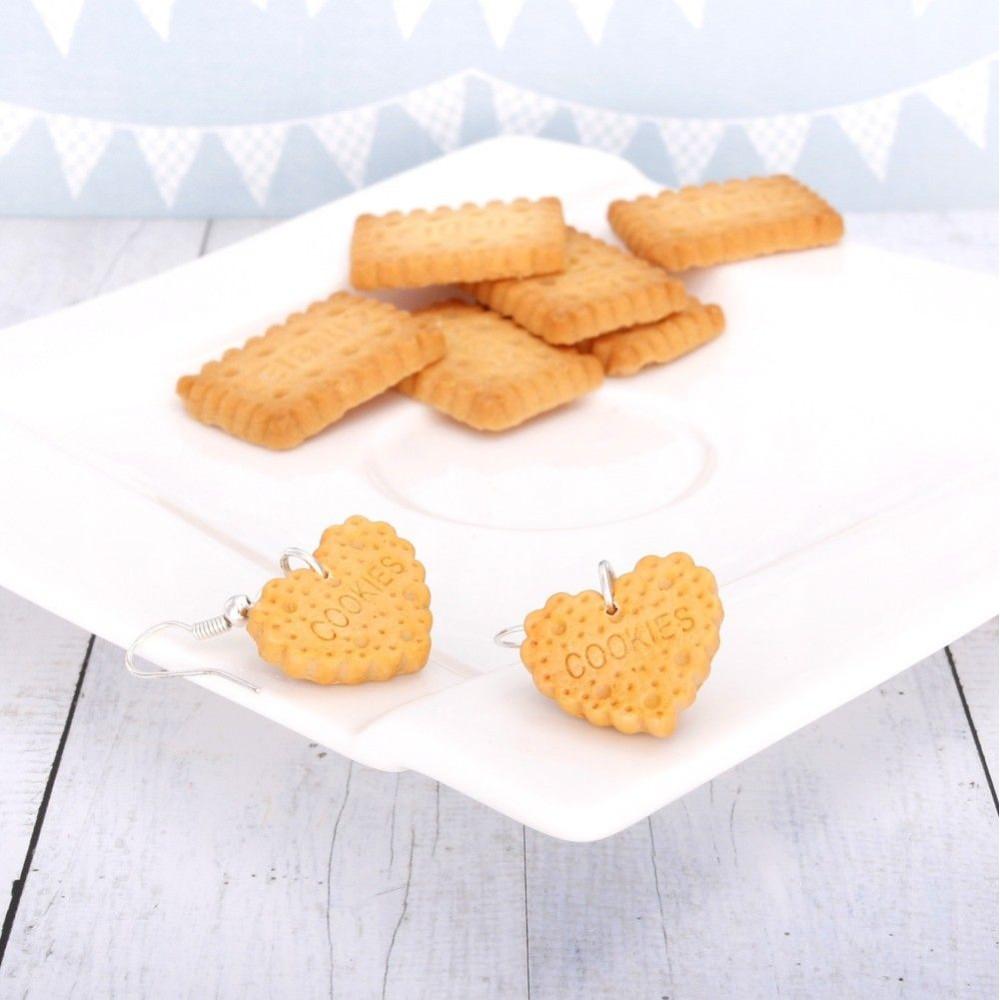 Cookies serduszka ciasteczka – kolczyki wiszące
