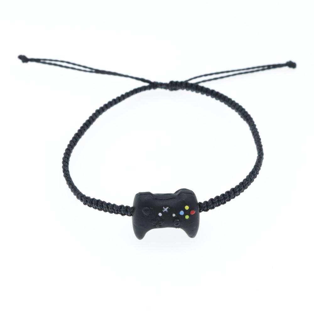 Bransoletka z padem Xbox regulowana sznurkowa makrama