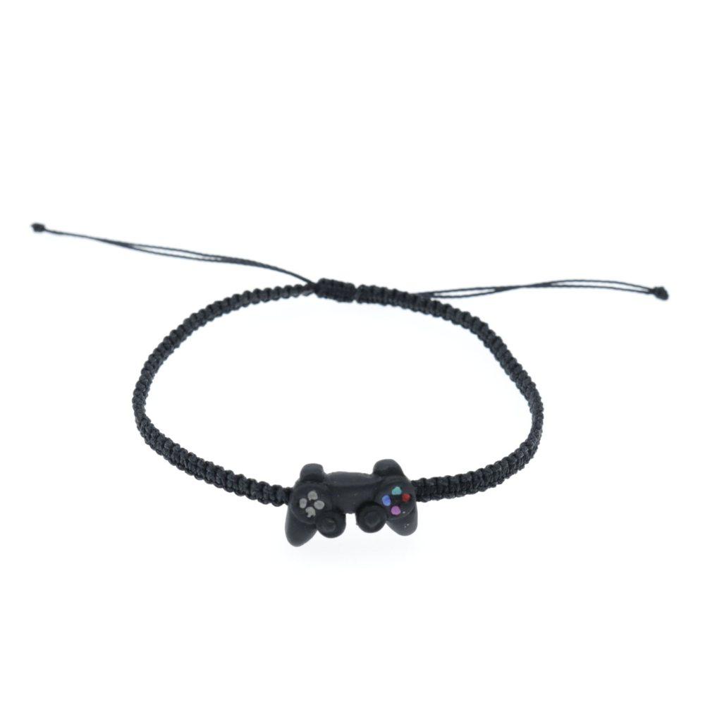 Bransoletka z padem PS4 regulowana sznurkowa makrama