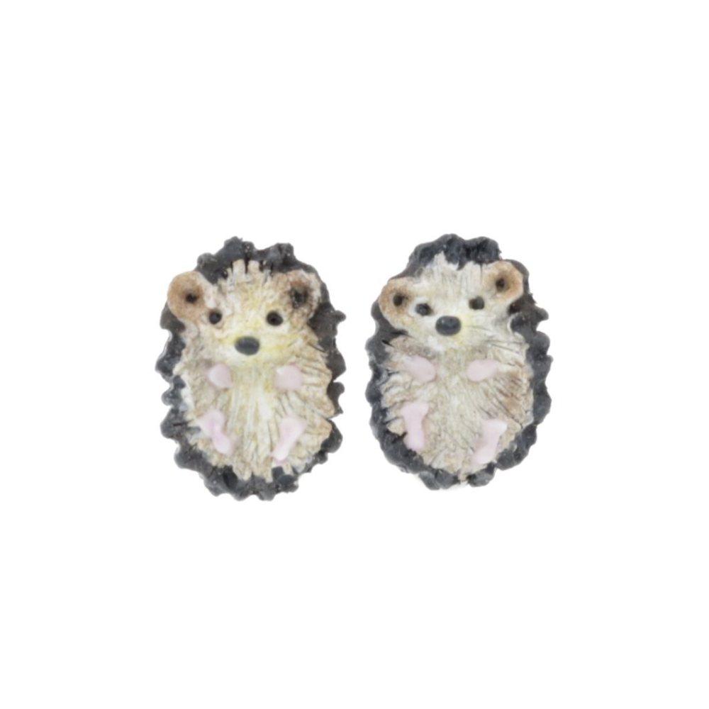 Kolczyki Jeże Jeżyki 1,5cm Stal Chirurgiczna Kolczyki z modeliny wiszące Jesienne