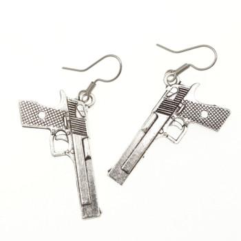 Pistolet kolczyki pistolety wiszące - kolczyki broń