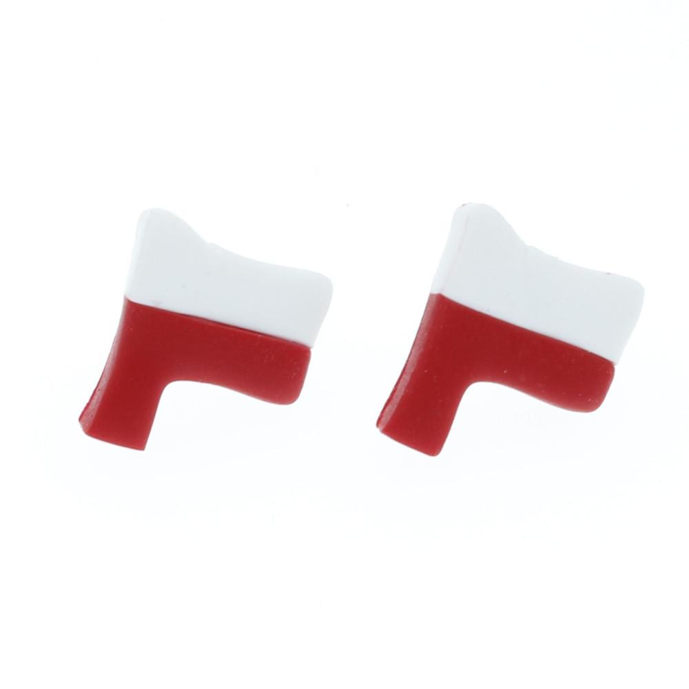 Kolczyki Flaga Polski kolczyki z flagą Polski sztyfty ze stali chirurgicznej