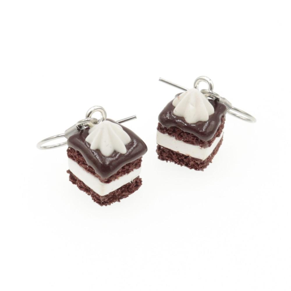 Kolczyki ciastka W-Z wuzet słodka biżuteria