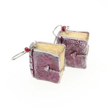 Książeczki, książki kolczyki ze stali chirurgicznej wiszące